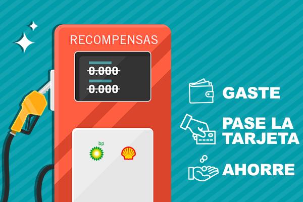 Cargue gasolina con recompensas. Gaste, pague con tarjeta y ahorre.