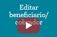 Editar beneficiario/cobrador