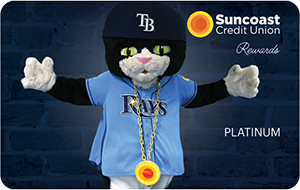 Tarjeta de crédito Suncoast Tampa Bay Rays Rewards Platinum