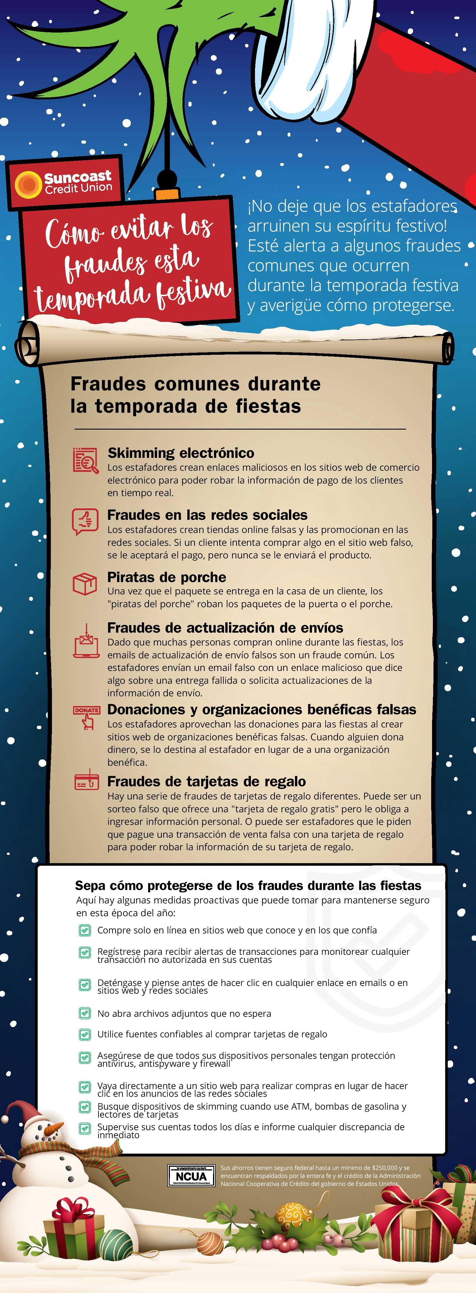 Infografía sobre cómo evitar los fraudes esta temporada festiva