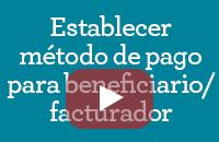 Establecer método de pago del beneficiario/cobrador